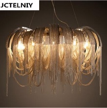 New design LED aluminum chandeliers luxury light  D800mm Gold/silver can be customized