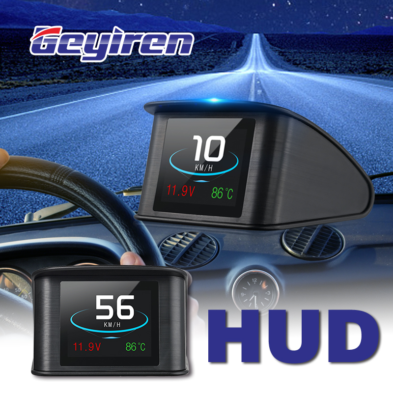 GEYIREN OBD II P10 GPS T600 Auto On board Computer Display Car Digital OBD Driving LED Display HUD head up display For any cars-in Head-up Display from Automobiles & Motorcycles