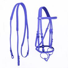 Durable Horse Head Collar Halter Riding Bridle Equipment PVC Equestrian Accessories