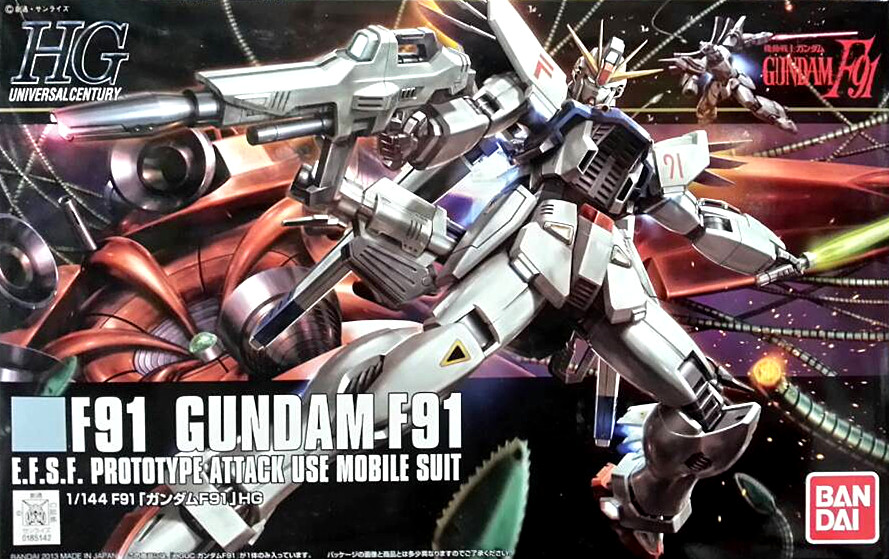 1PCS Bandai 1/144 HGUC 167 GUNDAM F91 Gundam Mobile Suit Assembly Model Kits Anime action figure Gunpla juguetes