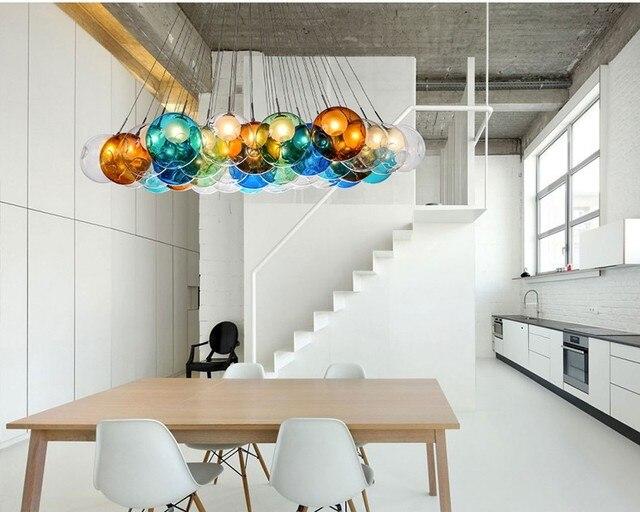 Design Hanglampen Woonkamer : Creative design moderne artistieke led kleurrijke glas hanglampen