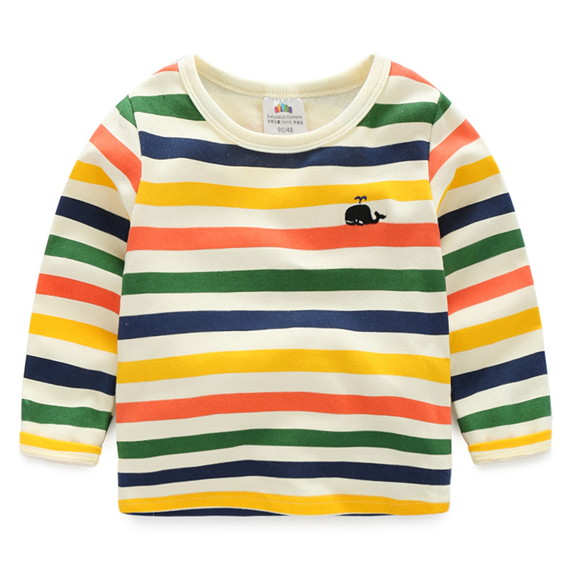 2016 autumn outfit baby striped T shirt han edition of the new boy s children s