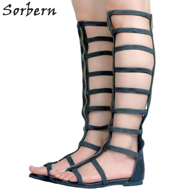 Sorbern Ladies Flat Party Shoes 2018 Summer Spring Sandals Women Sandals Women Flats Summer Fashion Ladies Flat Party Shoes