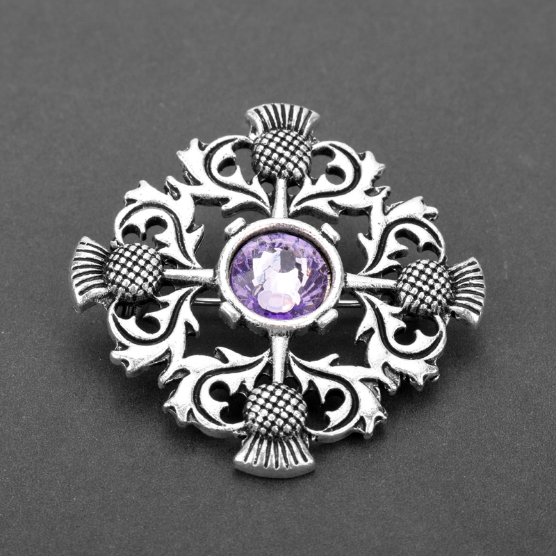 Brooch Pin Badge: Outlander Jewelry Brooch Scotland National Flower Thistle