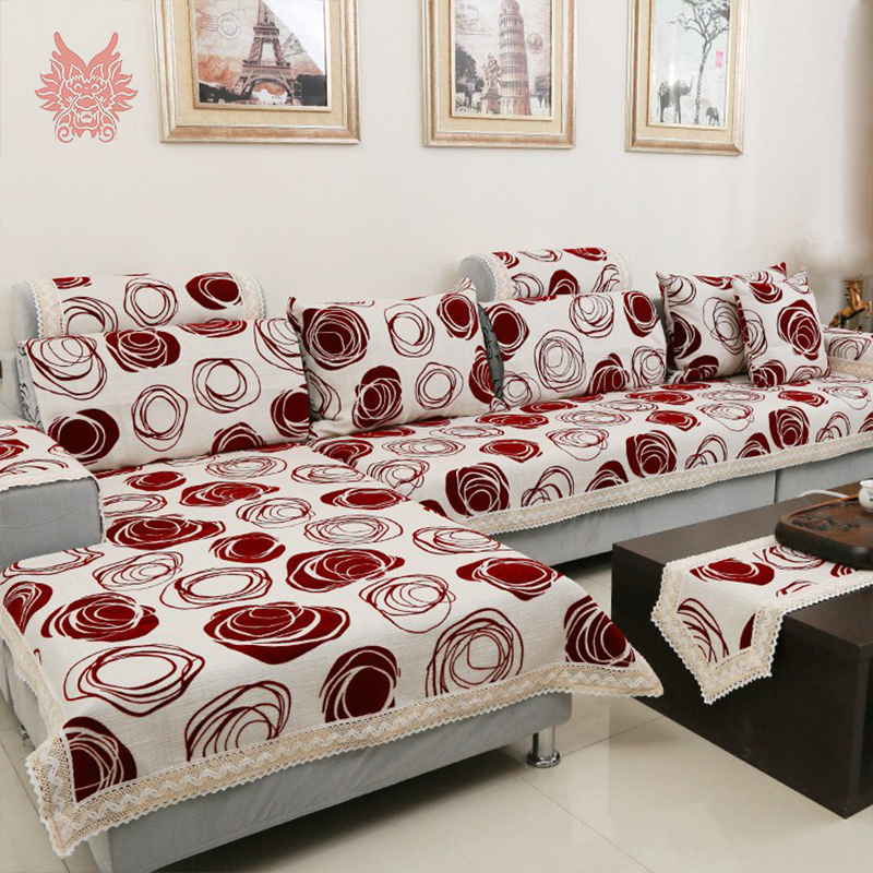 Buy european style luxury rose sofa cover poly cotton slipco - Canape patchwork cinna ...