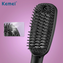 Electric Steam Spray Hair Straightener Brush with LCD Display