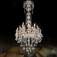 Роскошные хрустальные люстры Коньяк/ясный цвет кристалл K9 подвеска бисер творческий подвеска Европейский стиль гостиной отеля света