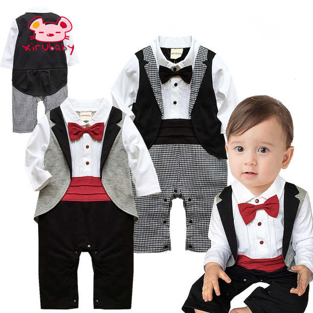 4a5b20013e8c Online Shop Xirubaby Autumn Newborn clothes Baby Boy gentleman Long ...