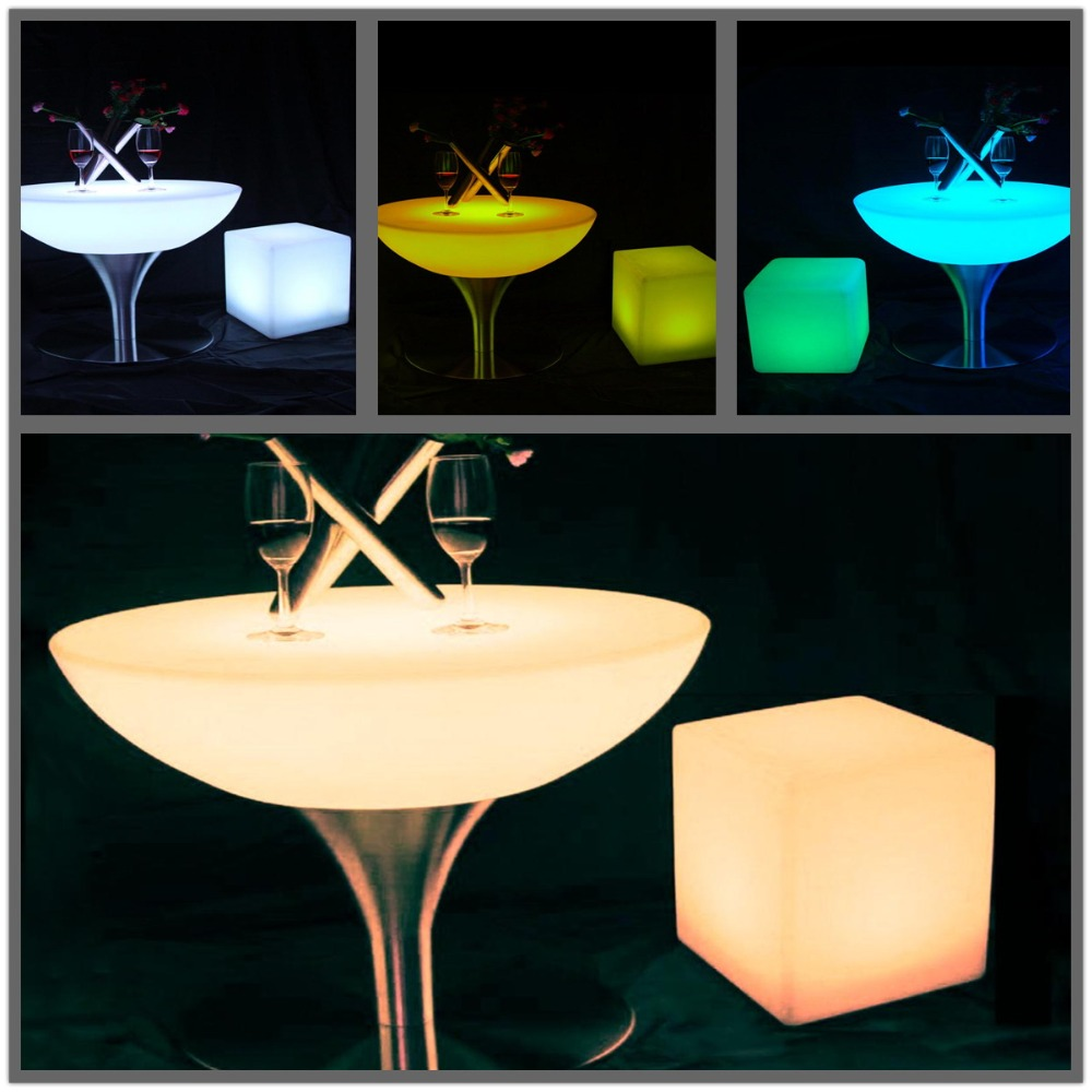 SK-LF18 (D80*H56cm)  Led Bar Table Illuminous Glowing Coffee Table Lighting Waterproof IP65 Rechargeable for Party Event 2pc/Lot