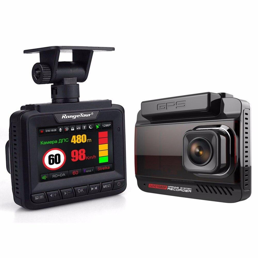 New Radar Detector With GPS Car DVR Video Recorder FHD 1296P Dash Camera 3 In 1 Car Detector Anti Radar For Car For Russia ...
