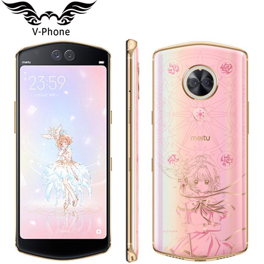 Meitu селфи Красота мобильный телефон Meitu T9 4G LTE смартфон 6,01 полный Экран Snapdragon 660 Octa Core отпечатков пальцев Face Unlock