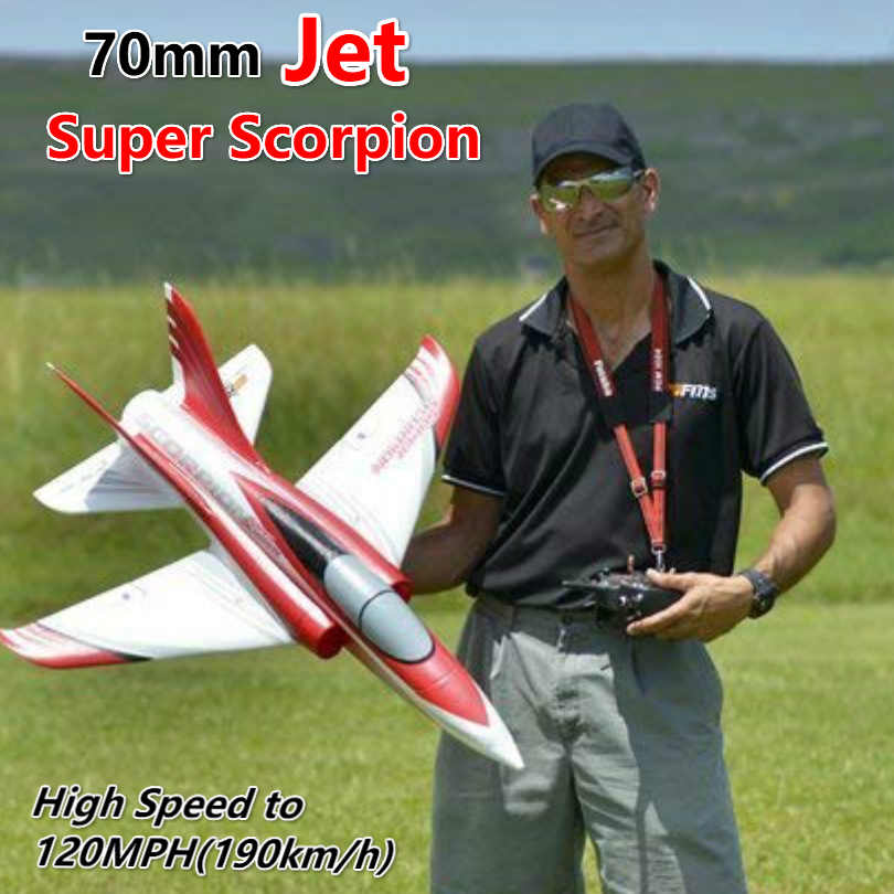 69b57caf5fe6 FMS 70mm Ducted Fan EDF Jet Super Scorpion Red 4S High Speed Sports EPO RC  Airplane