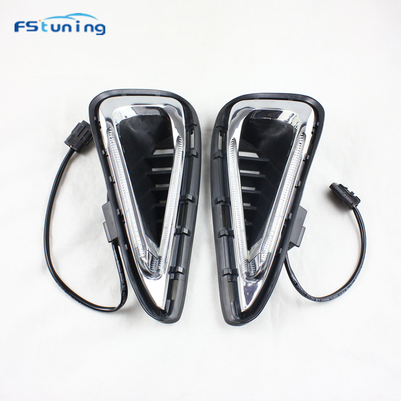 FStuning Car Styling Led DRL Daytime Running Lights Automobiles Accessories for Toyota camry 2015 V51-V55 Daylight Signal Lamp