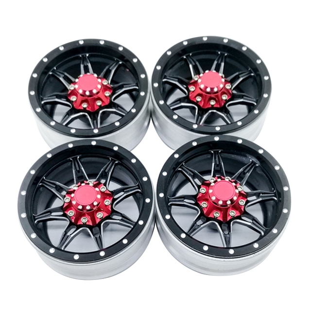 4 шт. Rc Рок Гусеничный металлический обод колеса 1,9 дюймов Beadlock для 1/10 осевая Scx10 90046 Tamiya по супер скидке Cc01 D90 D110 Tf2 Traxxas Trx-4 S119