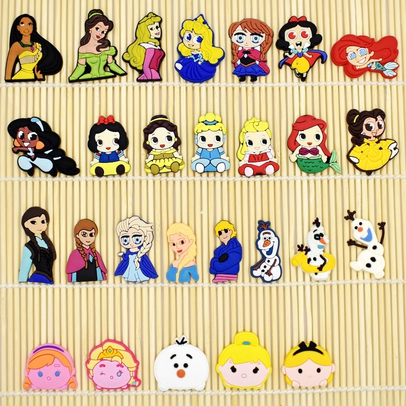 DIY Soft PVC Charms Cartoon Princess Fit Phone Case/Rings/Hair Accessory 10pcs Kids Girls Birthday Gift