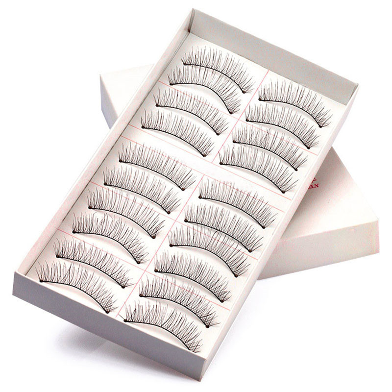 10 Pairs Thin False Eyelashes Fake Eye Lash Extensions Makeup Tool 2018 Best Gift For Women