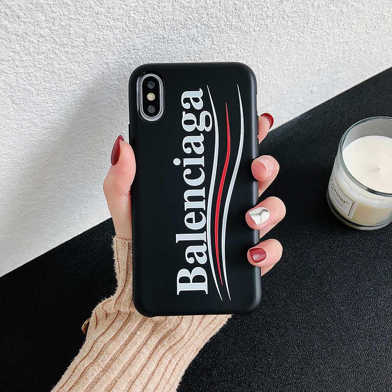 Paris Fashion Luxury Sports Brand Phone Case For Iphone 6 6s 8 7 Plus X 7plus