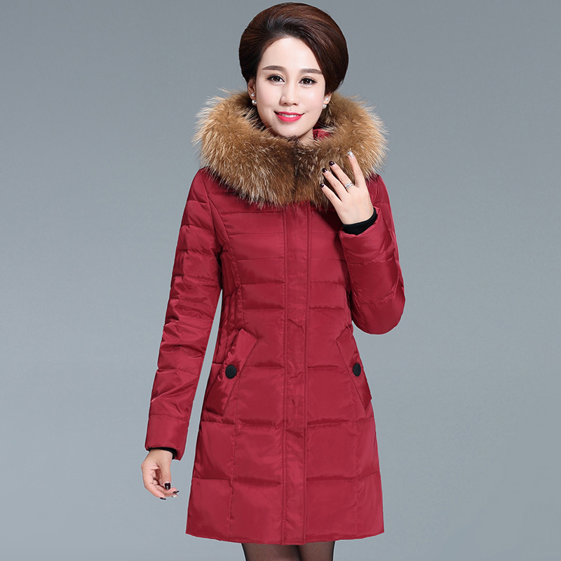 2018 In the elderly down jacket women s new thick warm winter mother down jacket