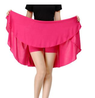 1pcs/lot Woman Solid Pleated Latin Skirt Female Fashion Square Dancing Solid Skirt Summer Candy Color Dancing Skirt