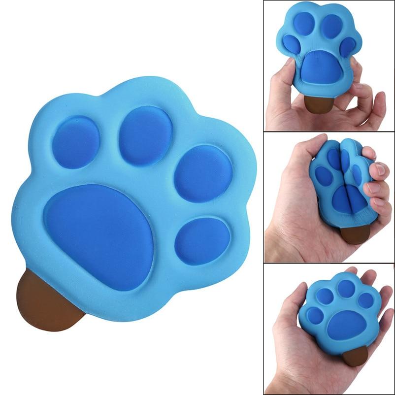 Heißer Verkauf Kawaii Fußabdrücke Cartoon Viskose Langsam Rising Creme Duft Heilmittel Stress Charme Kette Riemen Mole Footprint Spielzeug 2019 M5