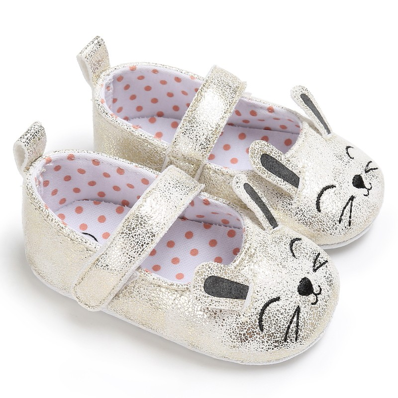 Toddler Newborn Baby Shoes First Walkers Cartoon Cat Shoes Crib Bebe Girls Princess Ballet Soft Soled Anti-Slip Footwear