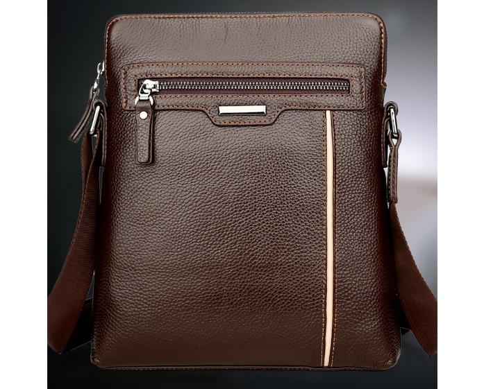 New Retro PU Leather Men Messenger Shoulder Bag Male Business Crossbody Bag Simple Small Cool Multifunction Bag L118