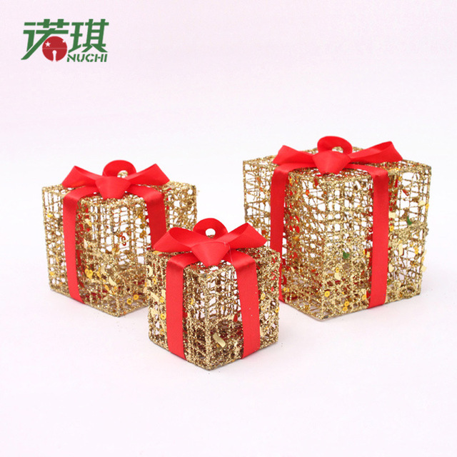 Picture christmas gift box