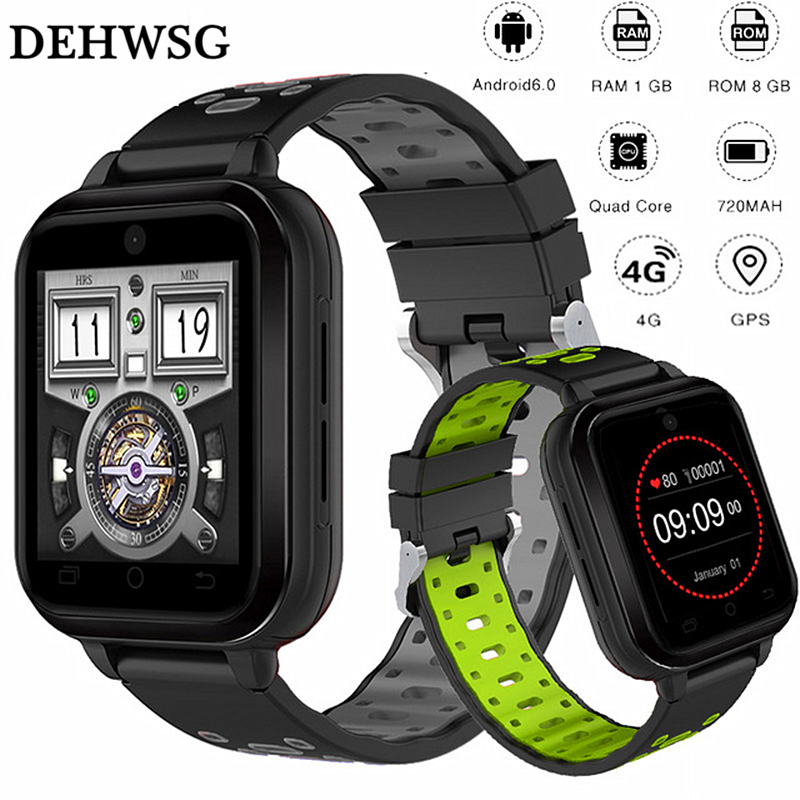 DEHWSG 4G smart watch D1 Plus Android 6.0 MTK6737 Quad Core 1GB/8GB SmartWatch Heart Rate 2MP Camera GPS WiFi clock PK M9 M5 4g gps android 6 0 smart watch m5 mtk6737 heart rate monitor support sim card camera business smartwatch for men women 2018 gift