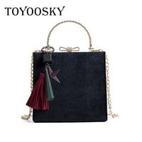 TOYOOSKY Classic Woman Velour Shoulder Bag Female Vintage Mini Flap Bag Chains Quilted Famous Brand Designer