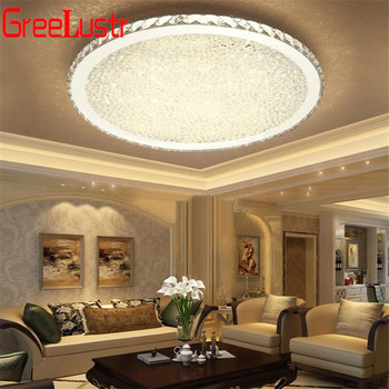 Modern K9 Crystal Ceiling Lamp Fixtures Round Led Chandelier
