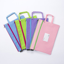 A4 size color portable portable file bag / canvas bag, can store contract documents, books, etc.