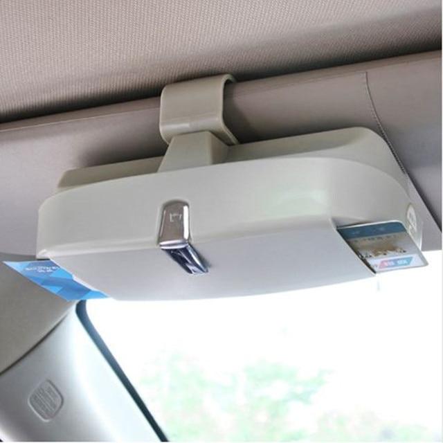 Car-Styling,Universal Car Sun Visor Glasses Box Sunglasses Ticket Receipt Clip Storage Holder glasses and cards car holder