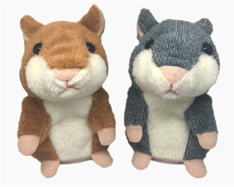 Russian Cute Talking Hamster Soud Record Speaking Baby Talking Hamster Repeats What You Say Plush Pet Doll Toys For Boys Girls