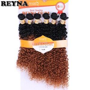 Image 4 - T1B/613 afro Crespo Tessuto Dei Capelli Ricci di alta temperatura Sintetico estensioni Dei Capelli ombre Pacchi dei capelli