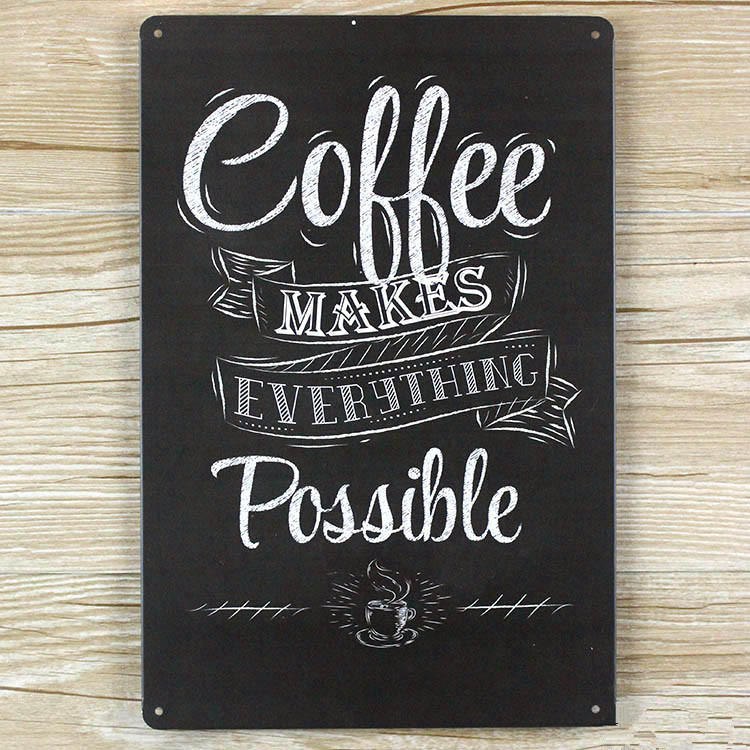 NEW 2015 Coffe Poster Vintage Home Decor Metal Tin Signs