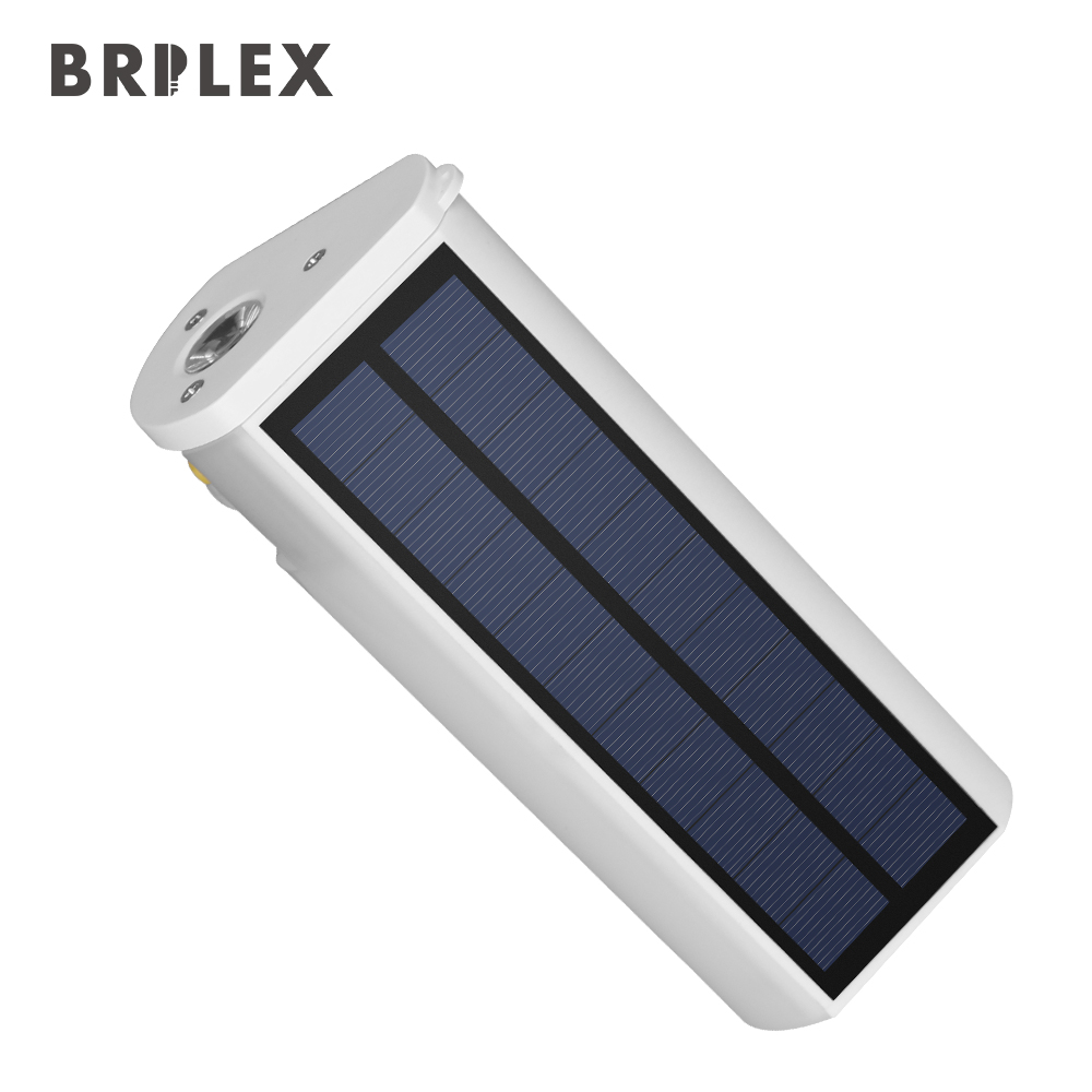 Outdoor Solar lights Brilex LED sensor Solar Lamp Pathway Wall Lights tourism Infrared sensors 18650 battery USB charging