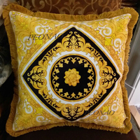 Both sided HD printing Floral Pillowcases for home decor golden and black cushion covers luxurious style high quality