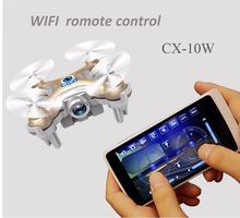 RC Quadcopter Cheerson CX-10W 4CH 6-Axis Gyro Wifi FPV RTF Mini RC Quadcopter Drone CX10 Mise À Jour Version Hélicoptère Jouet