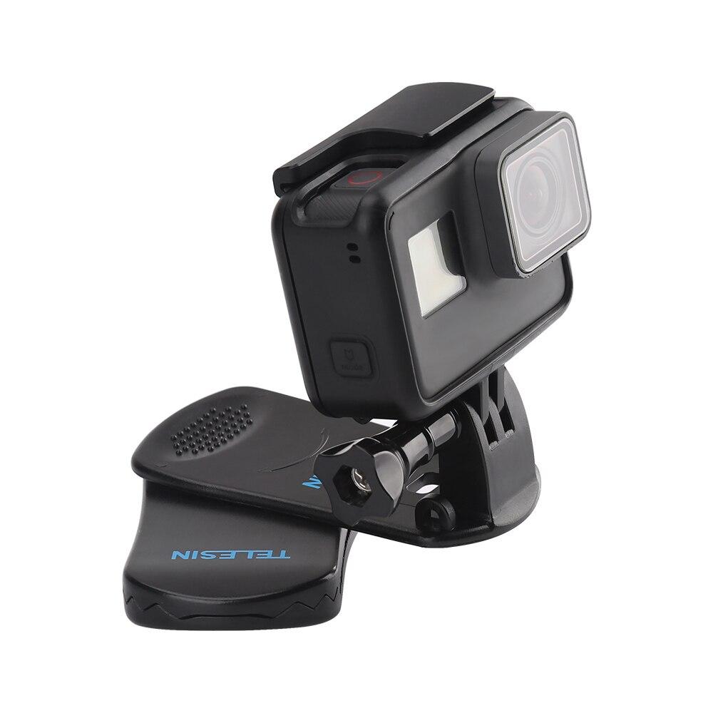 TELESIN Zaino Clip Morsetto Supporto per GoPro Eroe 6 Hero 5 Hero 4 3 2 Xiaomi Yi 1 4 K SJCAM SJ5000 Stella EKEN SOOCOO Action Camera