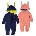 2017 Cute Newbron Baby Romper Autumn Cotton Baby Jumpsuit Animal Rabbit Kid Full Sleeve Clothing