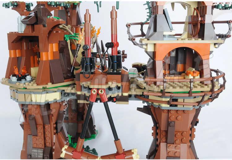 1990pcs חדש חלל מלחמת Ewok כפר ייחודי עץ בית 05047 DIY דגם בניין בלוקים ערכת מתנות סטי תואם עם lago