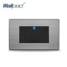 1 Bandas Interruptor de 2 Vías 2017 Venta Caliente China Fabricante Wallpad Pulsador One-Side Click Indicador LED de Lujo Luz de la pared