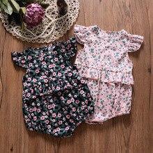 gxmjxdgmlndcp Newborn Baby Girl Print Vintage Floral Cotton