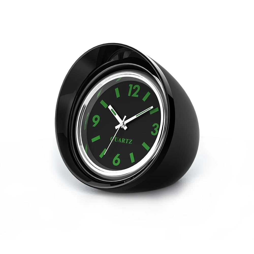 Voiture Horloge Carénage Lumineux électronique Montre à Quartz Ornement Universel noir