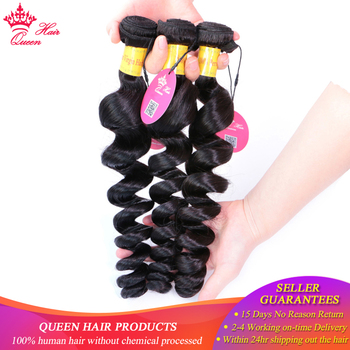 Queen Hair Peruvian Loose Wave Bundles Deal Human Hair Extension 3pcs/lot Hair Weave Bundle 10-28 Remy Hair Natural Color 1B