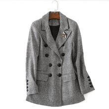 Фотография 2017, autumn and winter new ladies are casual wool suit jacket, high-end women