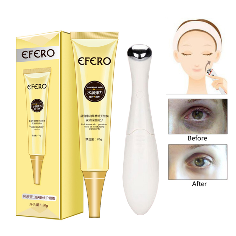 Mini Electric Eye Massager Anti Aging Wrinkle Eye Cream Skin Care Anti Puffiness Dark Circle Moisturizing Eyes Creams Firming