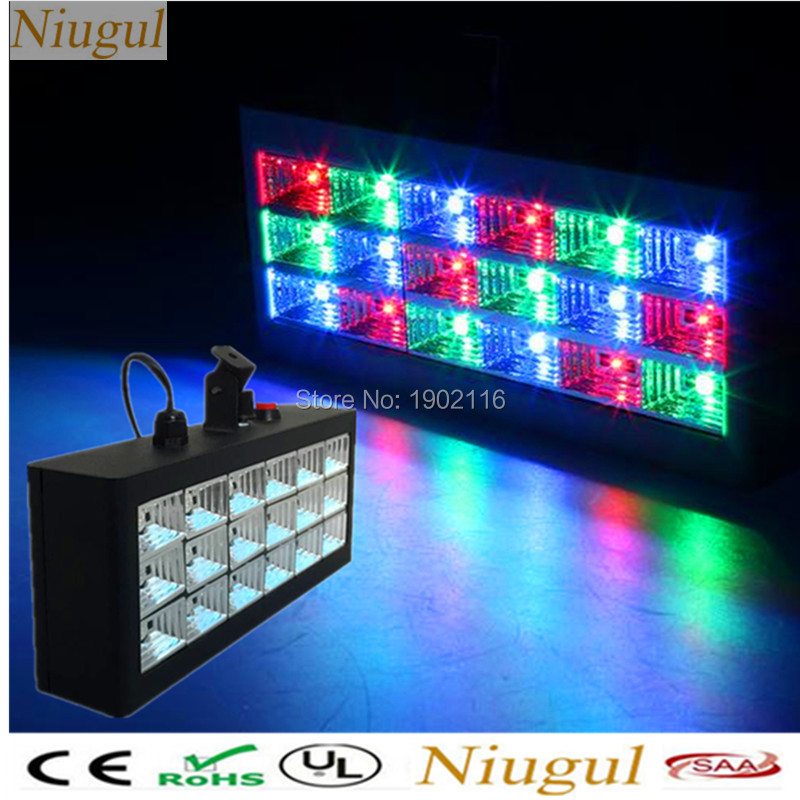Niugul 18 leds sound control RGB led colorful Stage Light Disco Strobe Light Flash Light Club Stage DJ Lighting Effect Xmas lamp niugul dmx stage light mini 10w led spot moving head light led patterns lamp dj disco lighting 10w led gobo lights chandelier