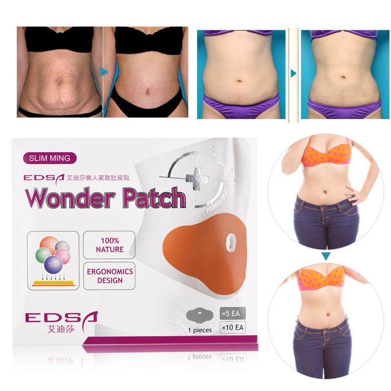 50pcs Lazy Weight Loss Belly Fat Burning Patches Stomach Abdomen Slimming Navel Stickers