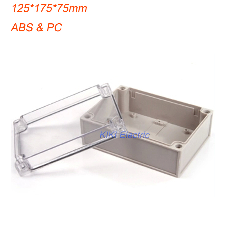 Europe Style Clear Cover small plastic boxes use as terminal /Meter/Junction Enclosure Waterproof IP66 125*175*75mm DS-AT-1217